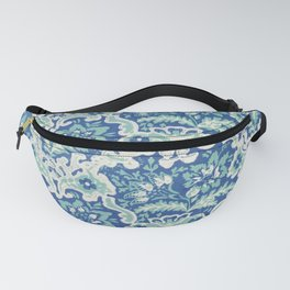 Vintage floral wallpaper (ca 1800-1825) in high resolution Fanny Pack