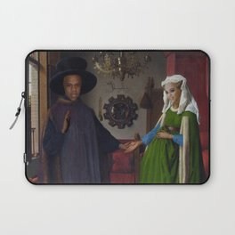 Bey and Jay Before Blue Laptop Sleeve