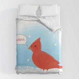 Winter Cardinal Duvet Cover