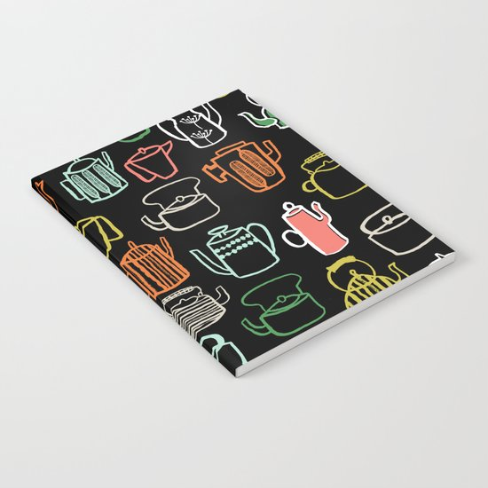Kitchen Teapots - Multi by Andrea Lauren Notebook