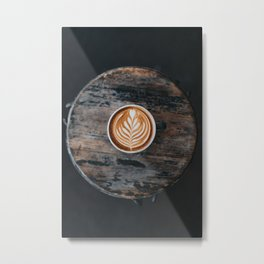 Coffee Latte Metal Print
