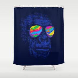 Blue Gorilla Shower Curtain