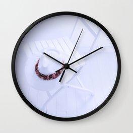 white chair Wall Clock