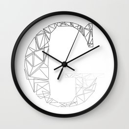 ''Geometry Collection'' - Minimal Letter G Print Wall Clock