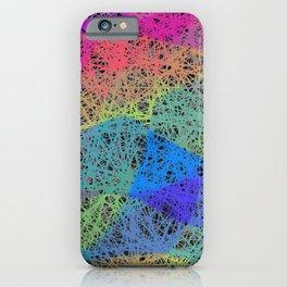 Neon Weaves iPhone Case