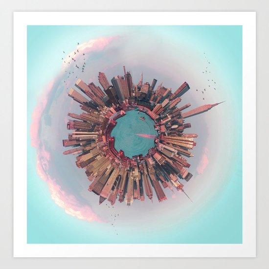 New York City mini world Art Print