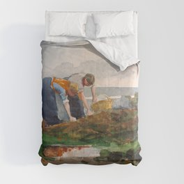 Winslow Homer1 - The Mussel Gatherers - Digital Remastered Edition Comforters