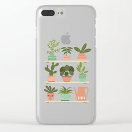 Plant Shelves Clear iPhone Case