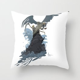 GRIM SURF Throw Pillow