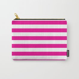 Horizontal Pink Stripes Carry-All Pouch
