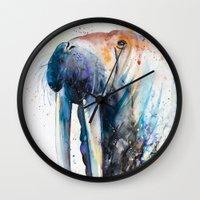 walrus Wall Clocks featuring Walrus by Slaveika Aladjova