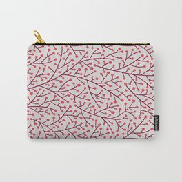 Pink Berry Branches Carry-All Pouch