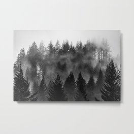 Charcoal Forest Fog - 26/365 Metal Print