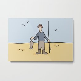 Beavis and Butthead Fisherman picture Metal Print