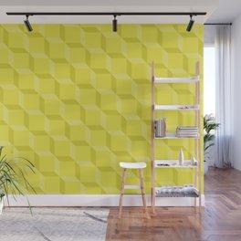 Chartreuse Lattice Wall Mural