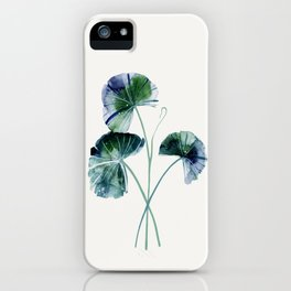 Water lily leaves iPhone Case
