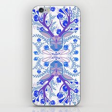 Floral Antlers – Blue Palette iPhone Skin
