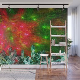 Psychedelic Christmas Light Show Wall Mural