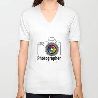 community V-neck T-shirts featuring Photographer Community by Jatmika jati