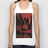 cities Tank Tops featuring Cities by Colin Webber