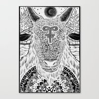 baphomet Canvas Prints featuring Baphomet by Christopher Worker