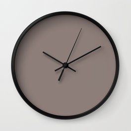 Creamy Chocolate Solid Color Pairs w/ Sherwin Williams Poised Taupe SW 6039 Accent Shade - Hue Wall Clock
