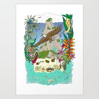 thailand Art Prints featuring Thailand by Matt Johnstone