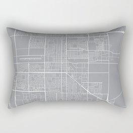 Oxnard Map, California USA - Pewter Rectangular Pillow