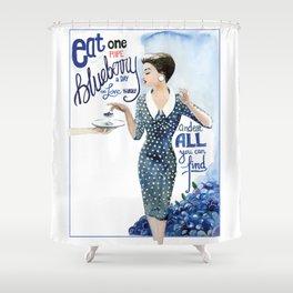 Blueberry Shower Curtain