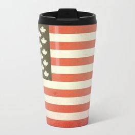 United States of Canada (Faded) Metal Travel Mug