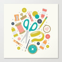 Get Crafty Canvas Print