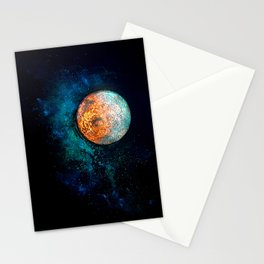 Mars and Luna Stationery Cards