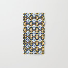 Yellow and Blue Moroccan Tile Hand & Bath Towel