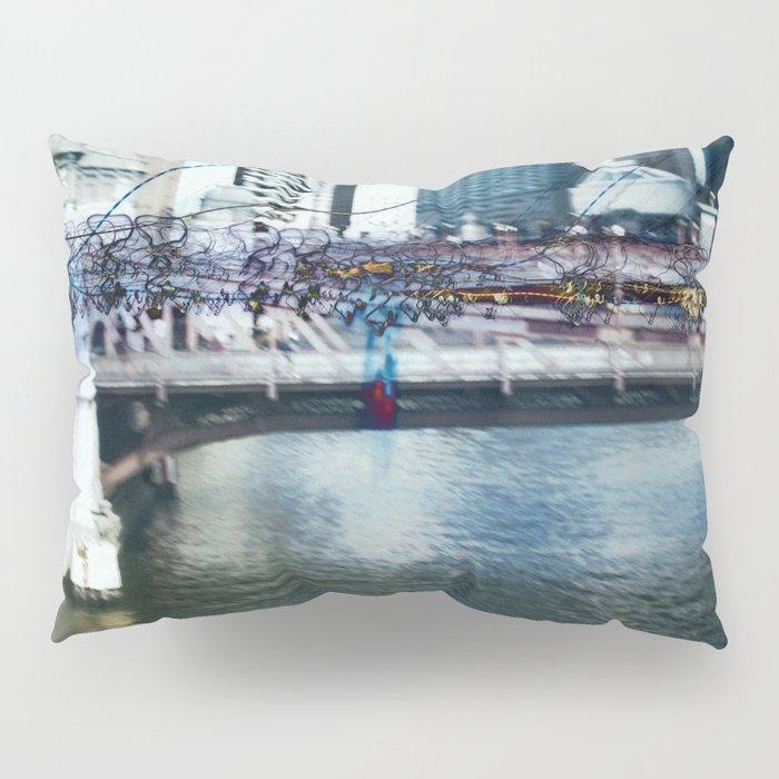 Light Bridge - Light Painting Pillow Sham