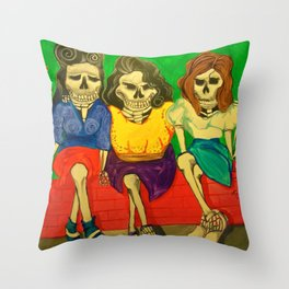 Las Comadres (The friends) Throw Pillow