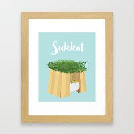 Warm Sukkot Booth of Togetherness and love Framed Art Print