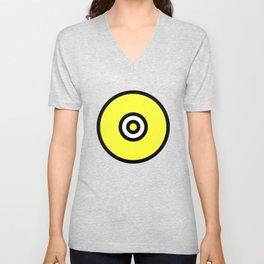 Yellow Black Circle Unisex V-Neck