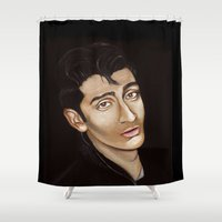 alex turner Shower Curtains featuring Alex Turner by Alfonso Aranda