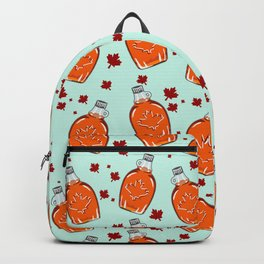 Super Canadian Maple Syrup Pattern Backpack