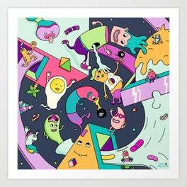 Swirls in Space Art Print