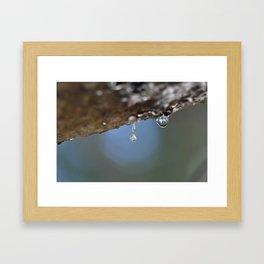 Dripping Pitch Framed Art Print