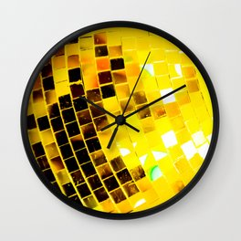 Gold Funky Disco Ball Wall Clock
