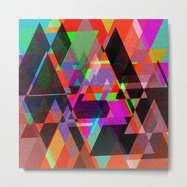 Decor Geometric triangles Metal Print