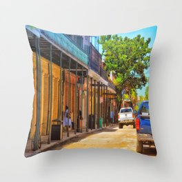 Sun Soaked New Orleans Throw Pillow