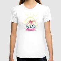dota T-shirts featuring You Can Run by DotaZone Store