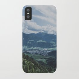 Beautiful austrian town between the mountains iPhone Case