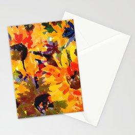 Golden Sunflower Garden Stationery Cards