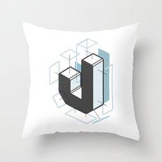 The Exploded Alphabet / J Throw Pillow