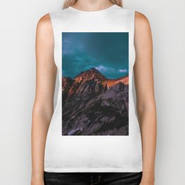 The Volcano Mountain (Color) Biker Tank