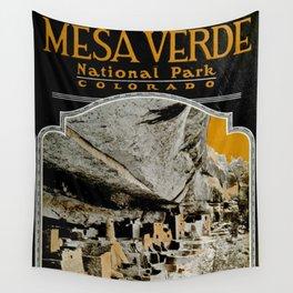 Vintage Mesa Verde National Park Poster (1919) Wall Tapestry